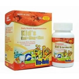 維他康-美國-兒童 鈣 + 鎂 + 鋅 咀嚼片,Vita Hong Kid's Cal+ Mag+ Zinc 兒童鈣鎂鋅咀嚼片