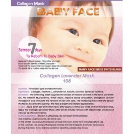 BABY FACE Collagen Lavender Mask 薰衣草煥彩亮白補濕面膜