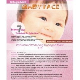 BABY FACE Radial Hot Whitening Collagen Mask 熱能活力淨白去斑面膜